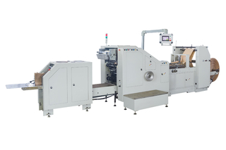 Roll Feeding Square Bottom Paper Bag Making Machine With Flexo Printing Machine